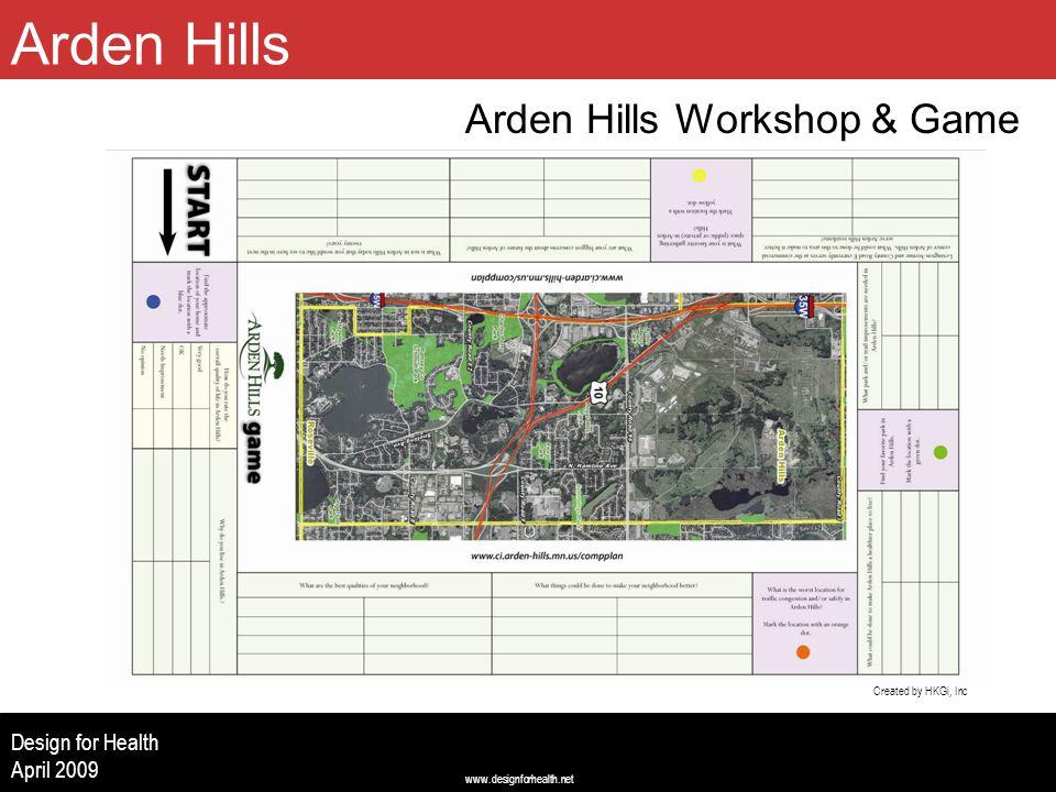 www.designforhealth.net Design for Health April 2009 Arden Hills Workshop & Game Arden Hills Created by HKGi, Inc