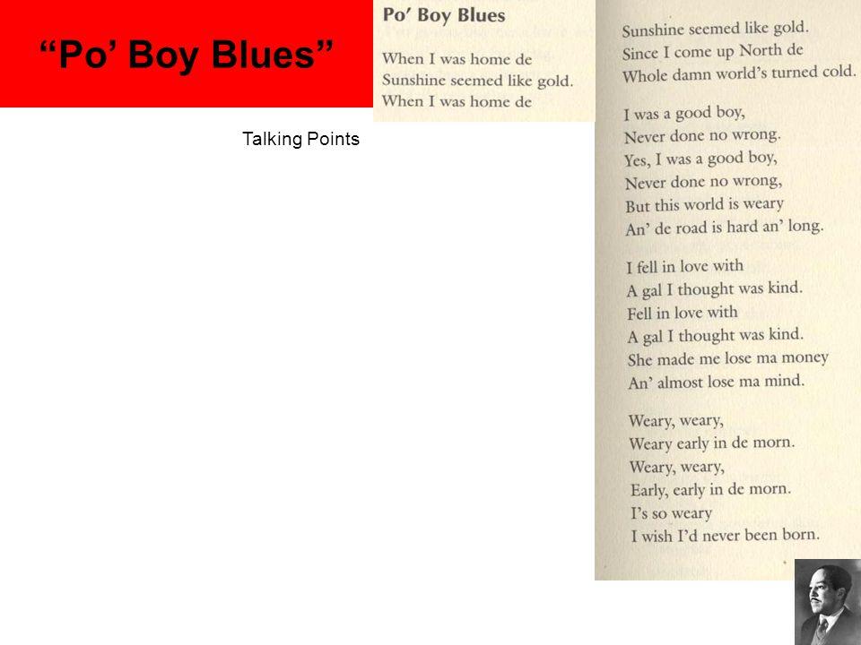 """Po' Boy Blues"" Talking Points"