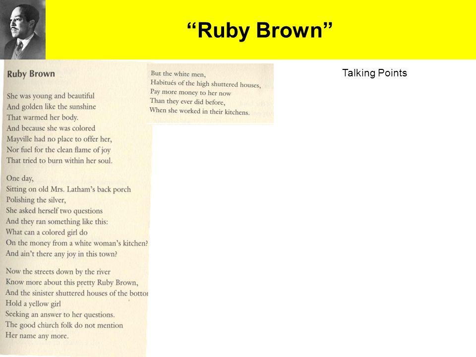 """""""Ruby Brown"""" Talking Points"""