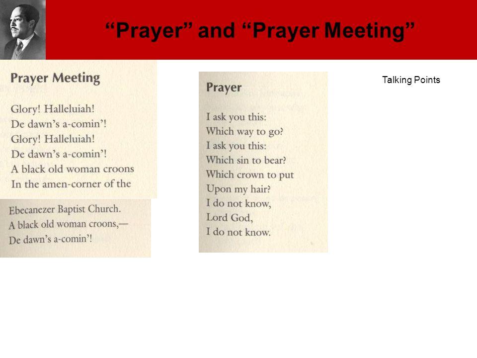 """Prayer"" and ""Prayer Meeting"" Talking Points"