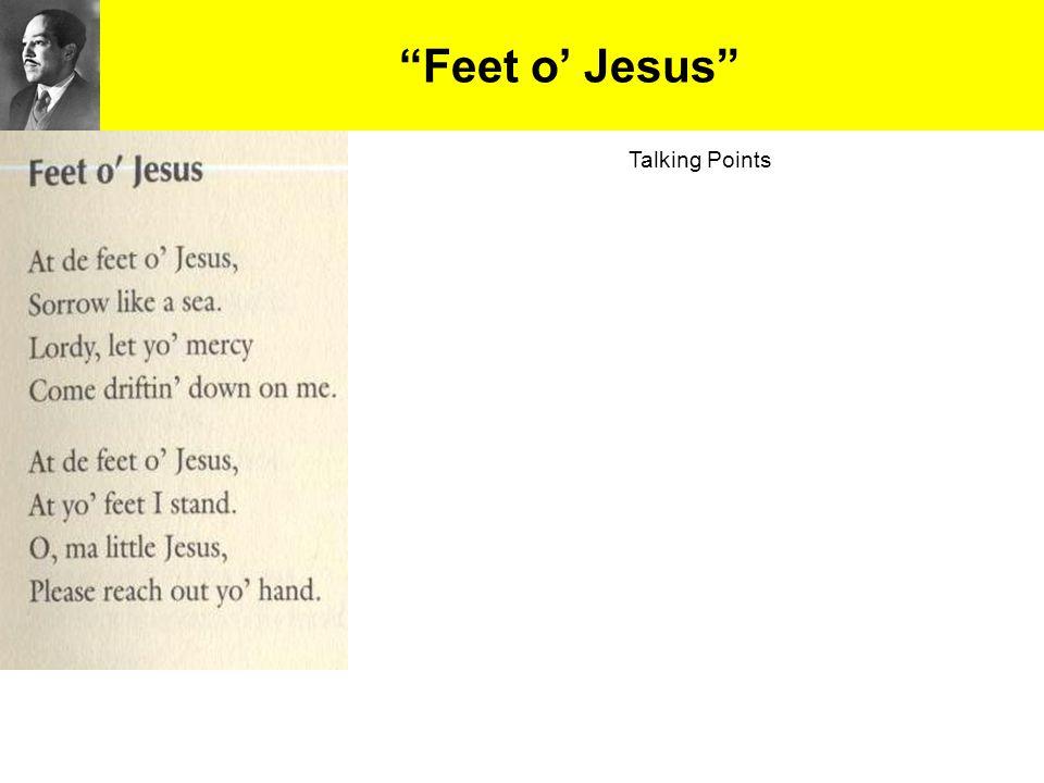 """""""Feet o' Jesus"""" Talking Points"""