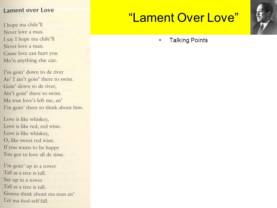 """""""Lament Over Love"""" Talking Points"""