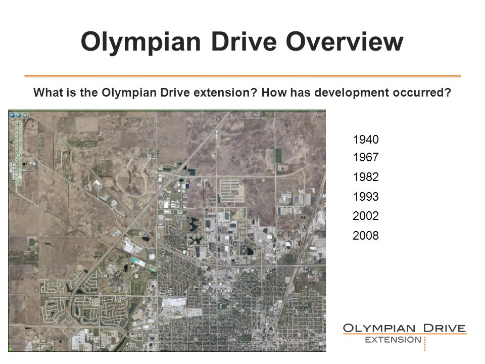 Olympian Drive Overview What is the Olympian Drive extension.