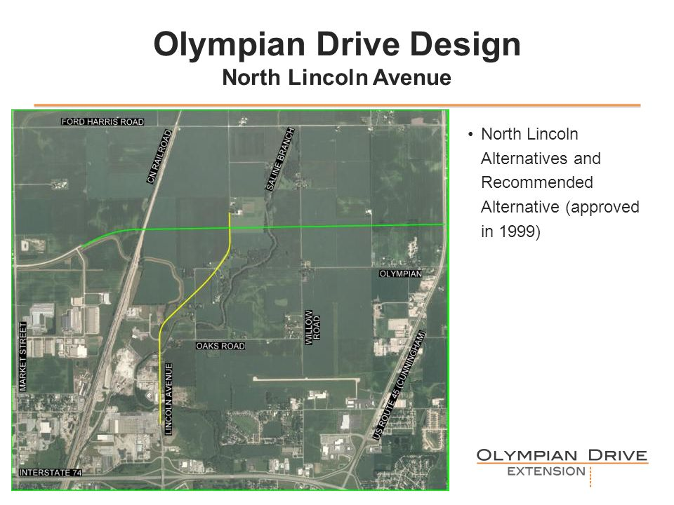Olympian Drive Design North Lincoln Avenue North Lincoln Alternatives and Recommended Alternative (approved in 1999) 5.66 is the height for the images
