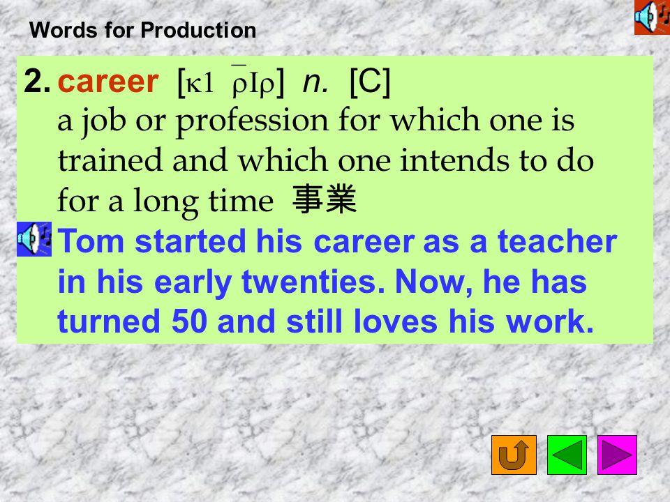 Words for Production 15.medical [ `mEdIkL ] adj.