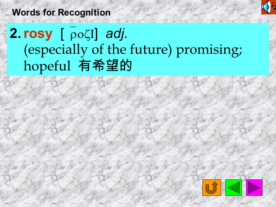 Words for Recognition 1.Florence Nightingale [ `flOr1ns `naItN&Gel ] n.