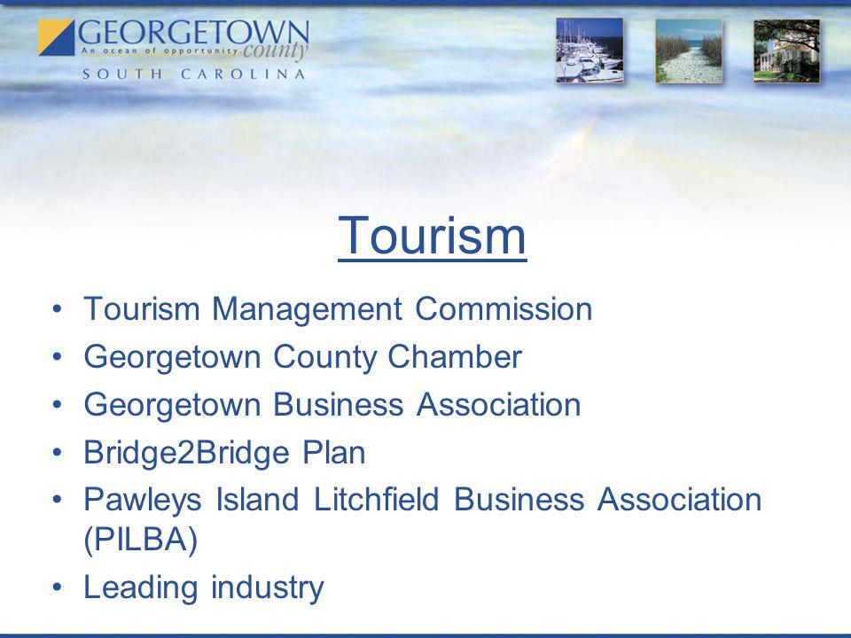 Tourism Tourism Management Commission Georgetown County Chamber Georgetown Business Association Bridge2Bridge Plan Pawleys Island Litchfield Business Association (PILBA) Leading industry
