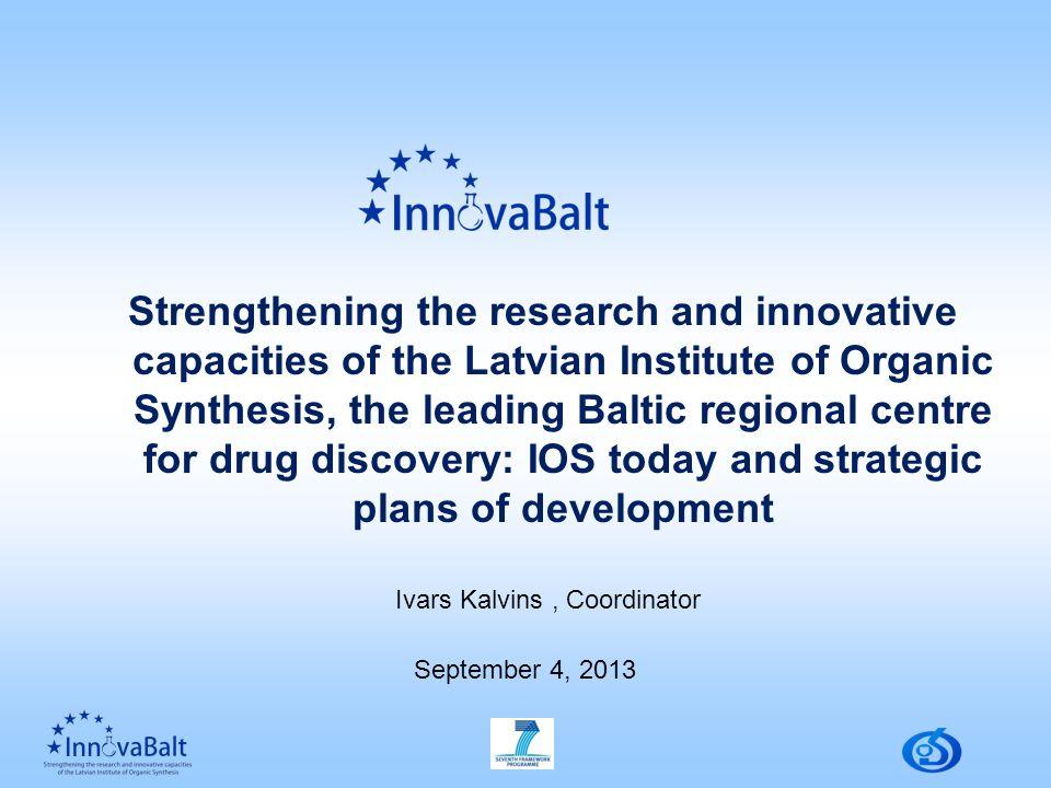 IOS discovered 17 original medicines and 86 original manufacturing processes of Active Pharmaceutical Ingredients (API).