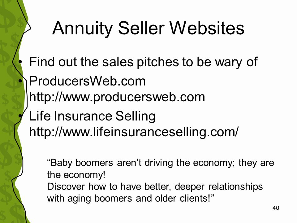 41 Reporting Unethical Sales Blow the Whistle –Contact state insurance & securities regulators Utah Division of Securities UT Insurance Dept.
