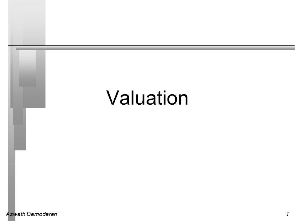 Aswath Damodaran1 Valuation