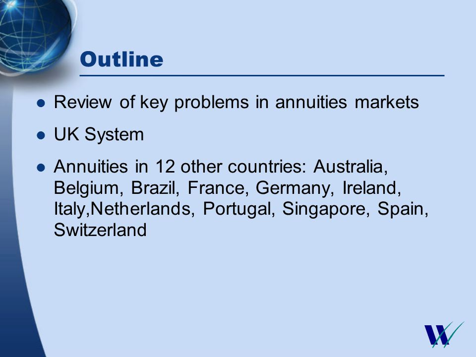 Value for money of annuities Internal rate of return on annuities Nov. 26, 1999