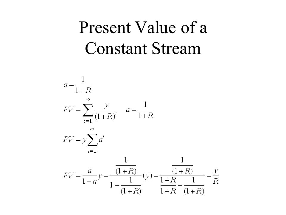 Present Value of a Constant Stream