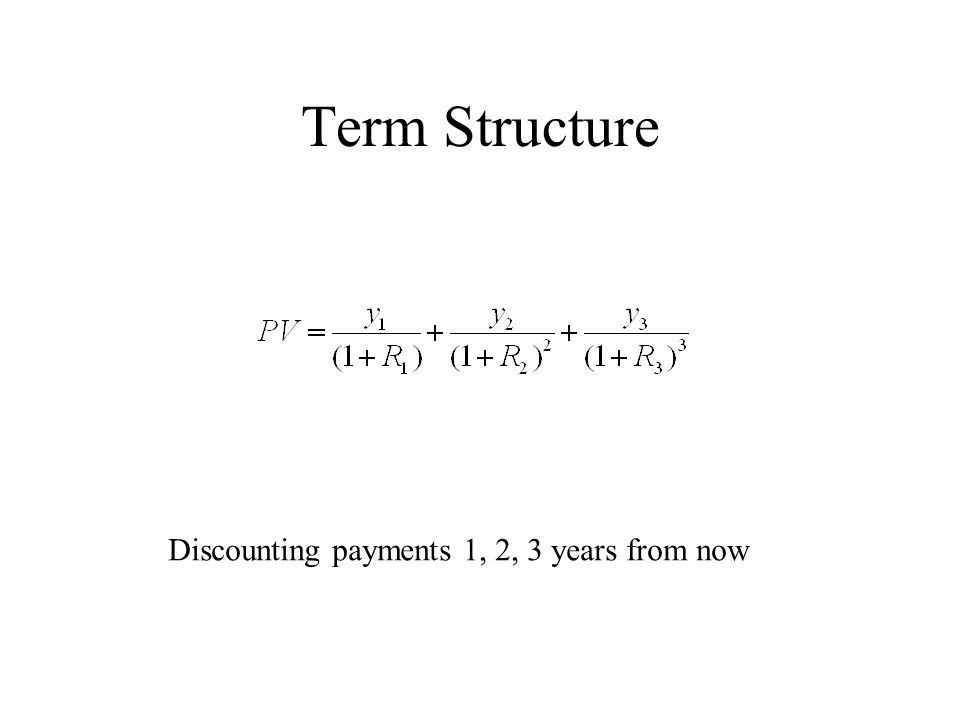 Term Structure Discounting payments 1, 2, 3 years from now