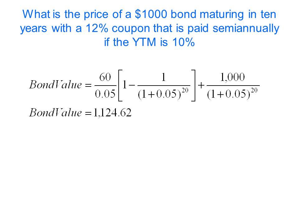 Bond Valuation Annuity Formula