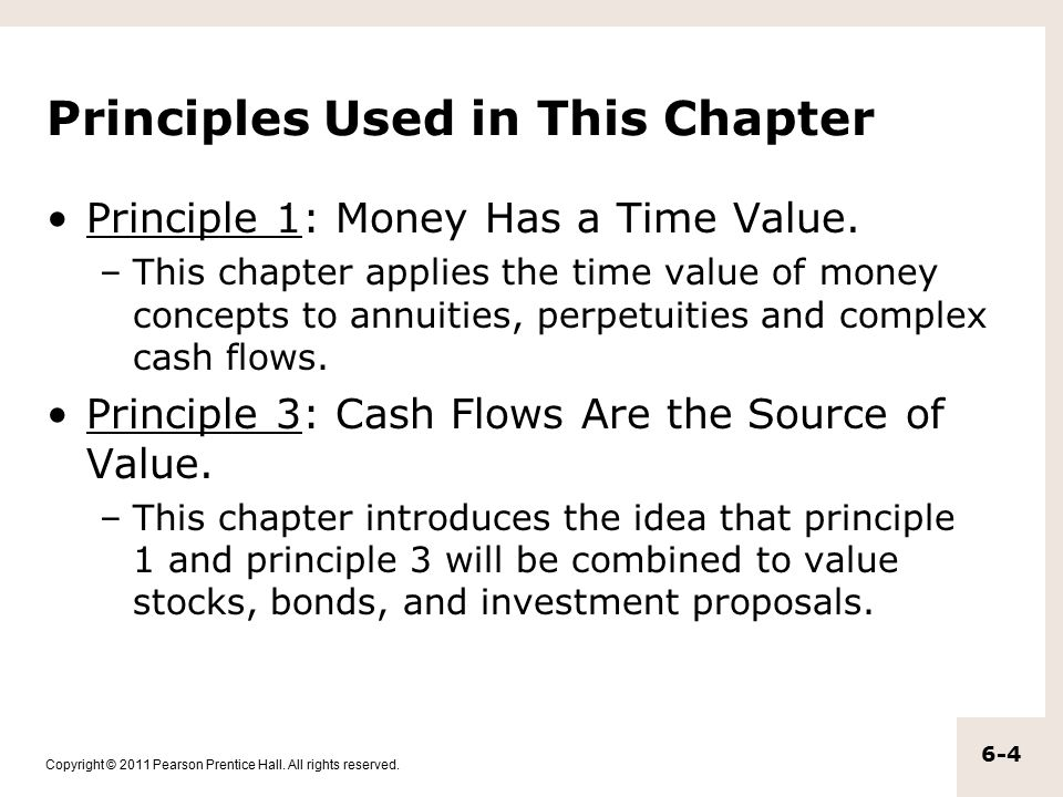 Copyright © 2011 Pearson Prentice Hall. All rights reserved. 6.1 Annuities