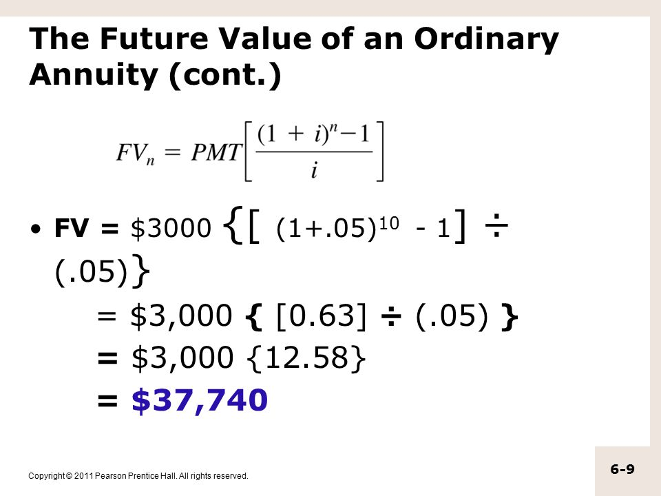 Copyright © 2011 Pearson Prentice Hall. All rights reserved. 6.3 Complex Cash Flow Streams