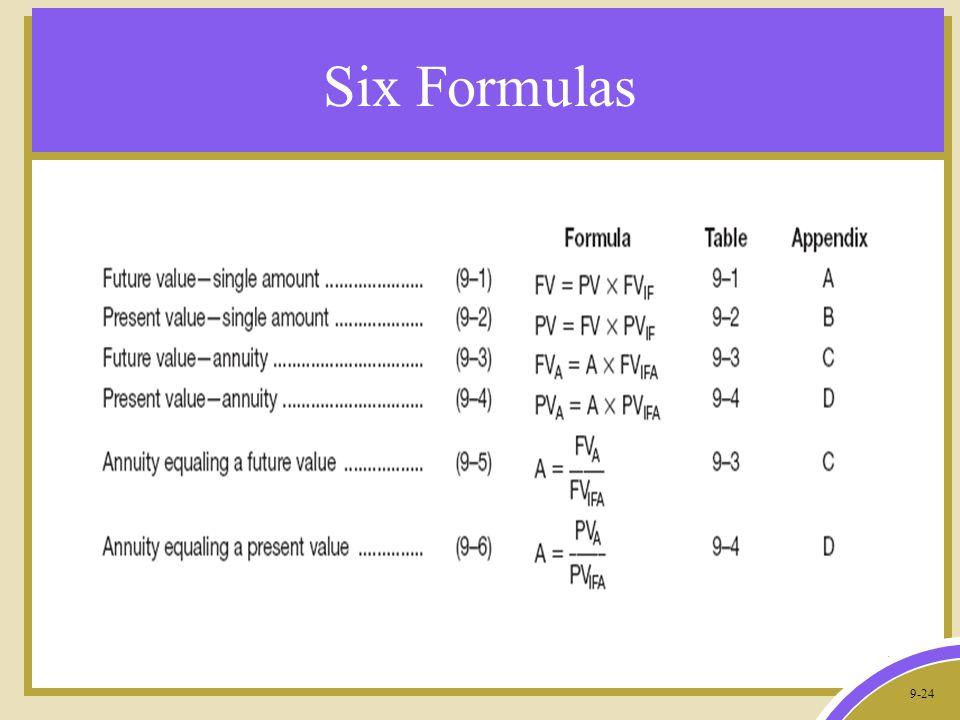 9-24 Six Formulas