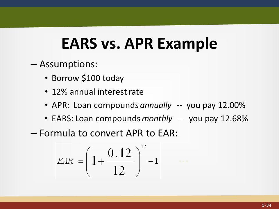 EARS vs.APR Example...