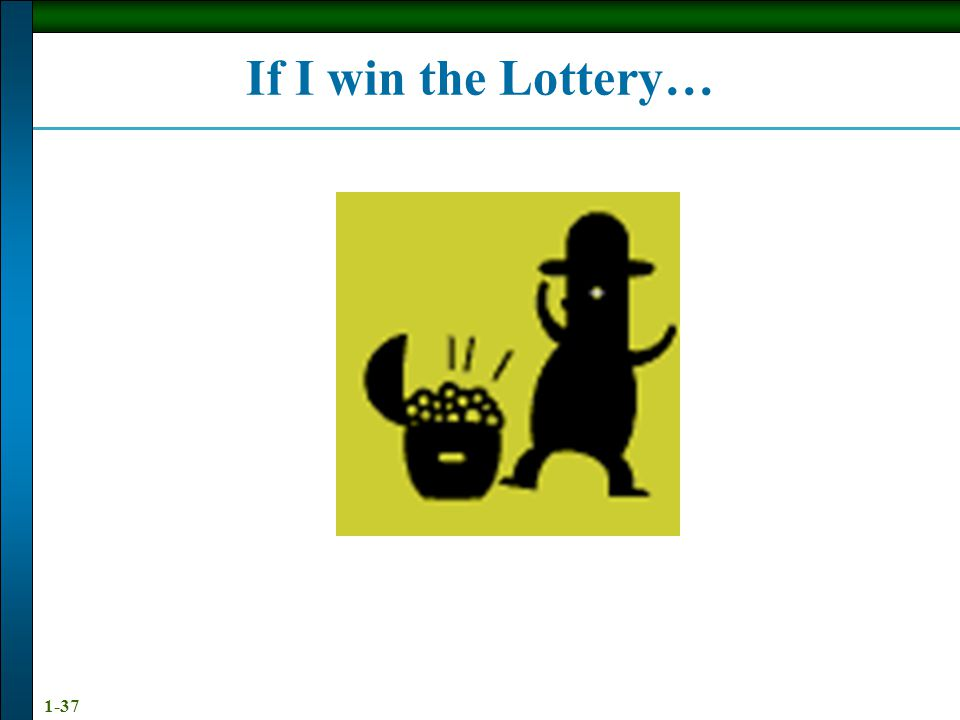1-37 If I win the Lottery…