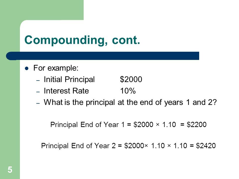 5 Compounding, cont.