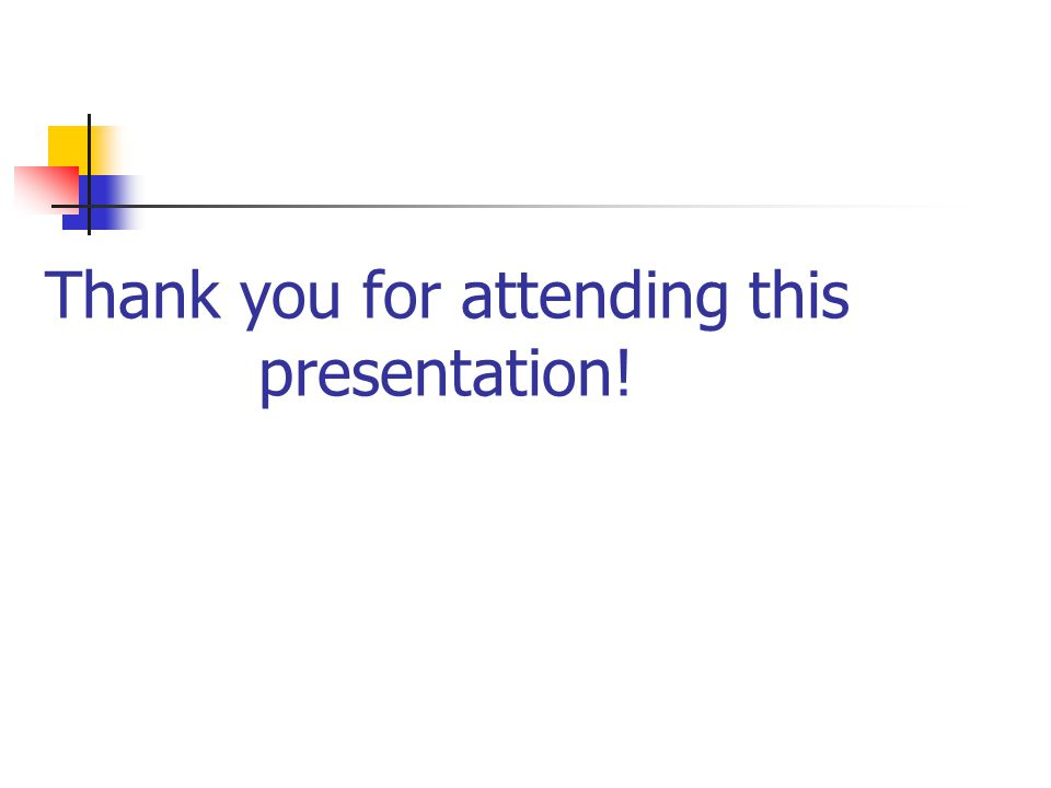 Thank you for attending this presentation!