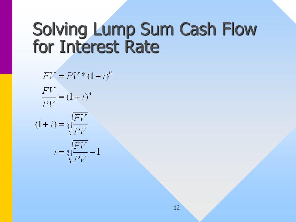 12 Solving Lump Sum Cash Flow for Interest Rate