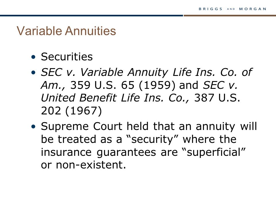 Variable Annuities Securities SEC v. Variable Annuity Life Ins.