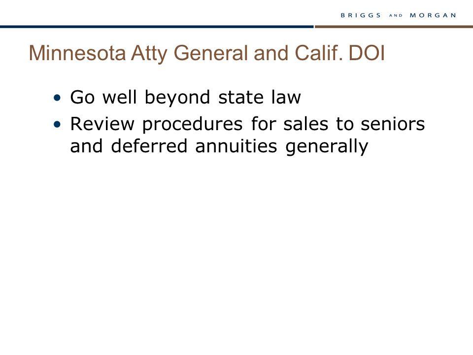 Minnesota Atty General and Calif.
