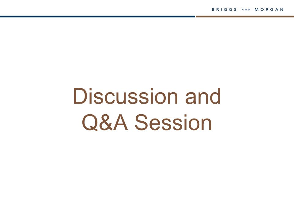 Discussion and Q&A Session