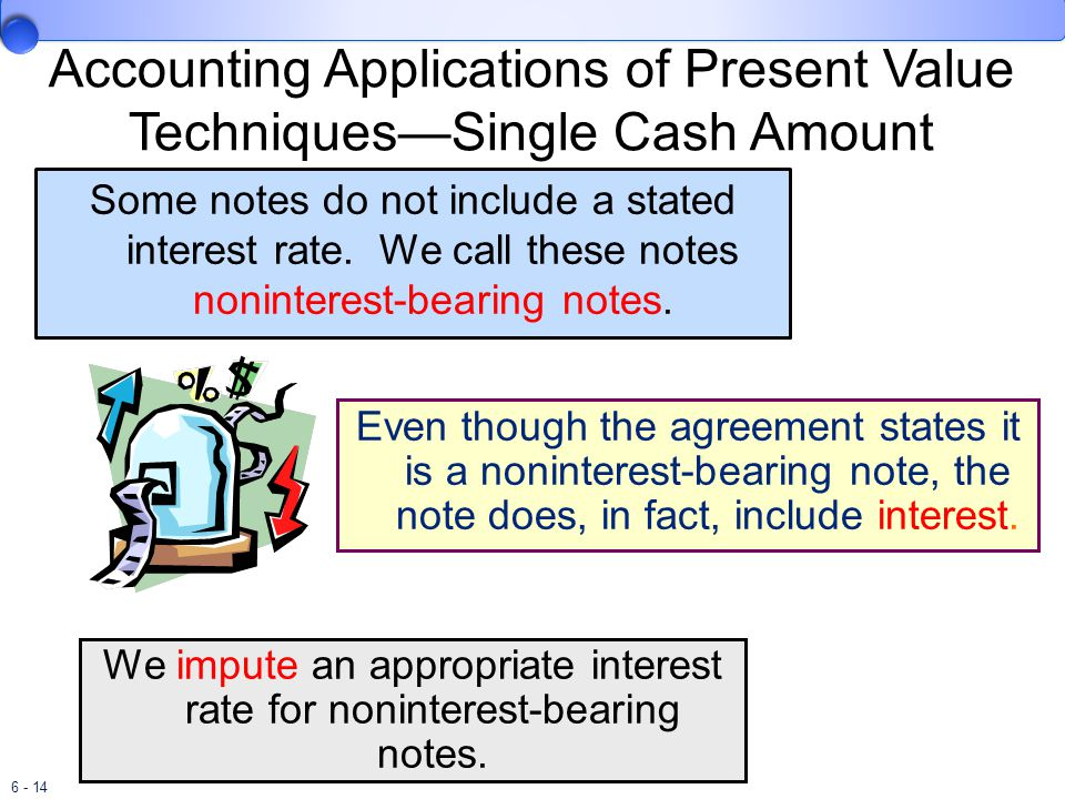 6 - 14 Some notes do not include a stated interest rate.