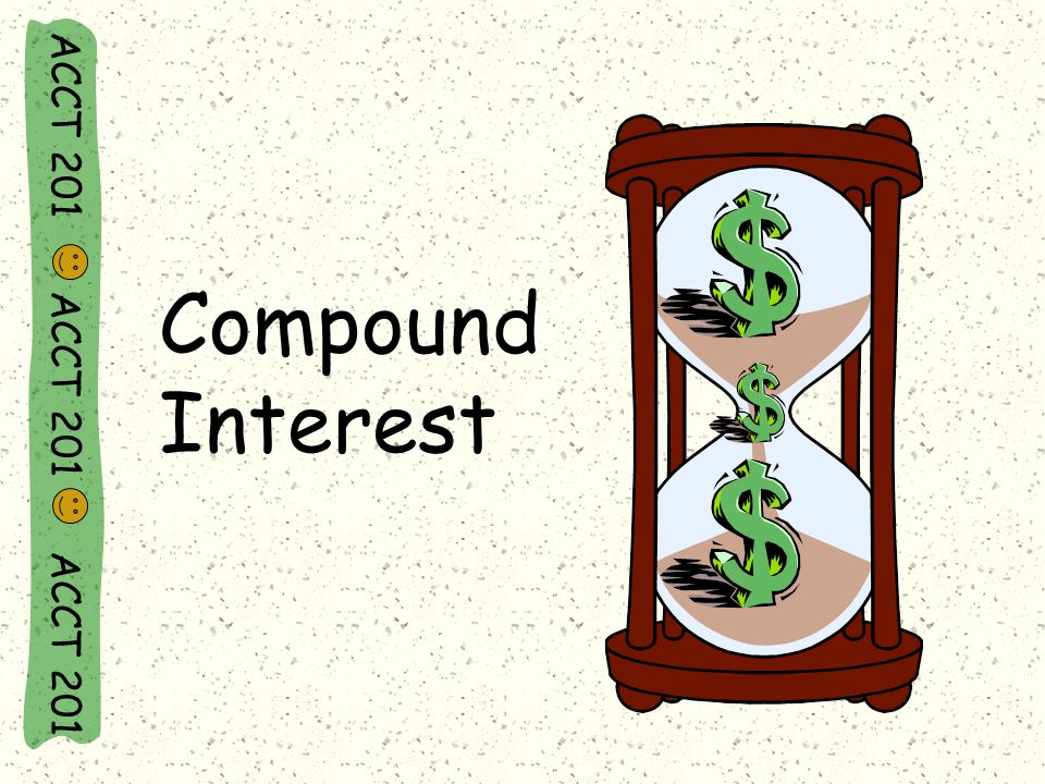 Compound Interest ACCT 201 ACCT 201 ACCT 201
