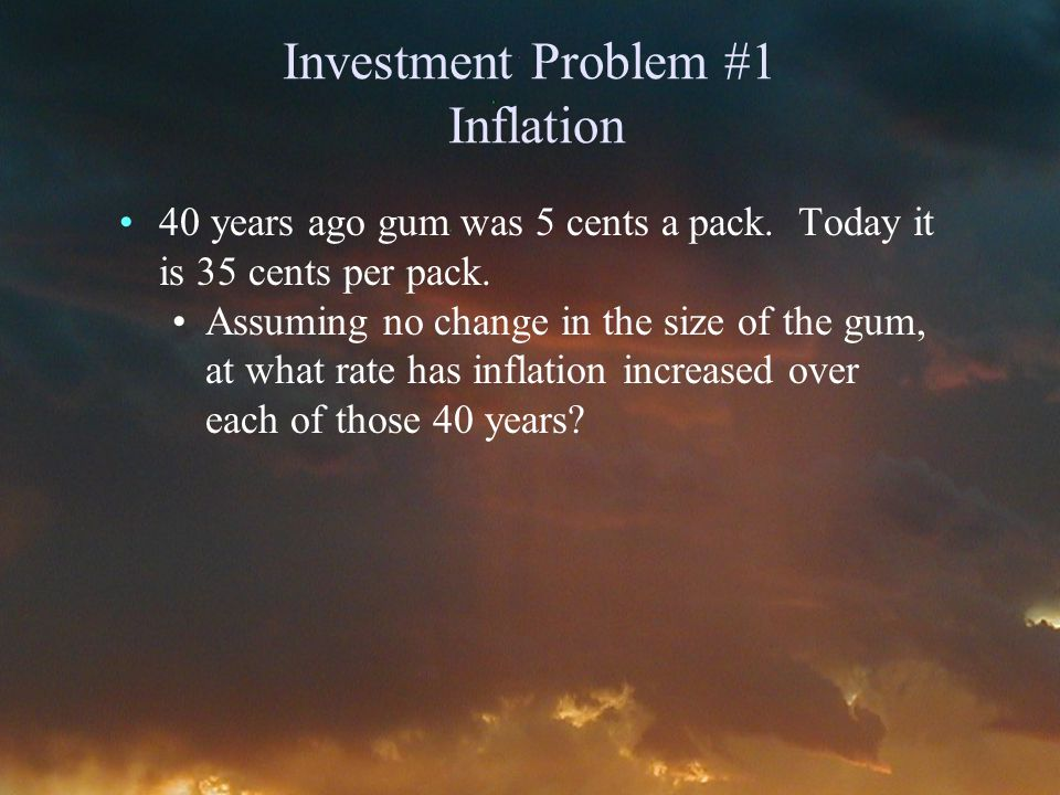 Answer #1: Inflation Clear registers, set your calculator to 1 payment year, and set your payments to end mode, i.e.