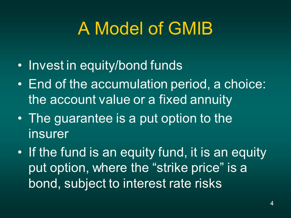 5 Capital Market Approach: Equity/Interest Rate Model 2-factor interest rate model Recombining lattice, orthogonal yield curve movements Fit the term structure of interest rates and volatilities (arbitrage-free) Combining lognormal and normal behavior Equity returns are lognormal with the instantaneous rate of return = short rate