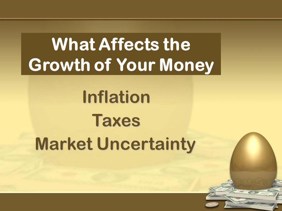 What Affects the Growth of Your Money Inflation Market Uncertainty Taxes