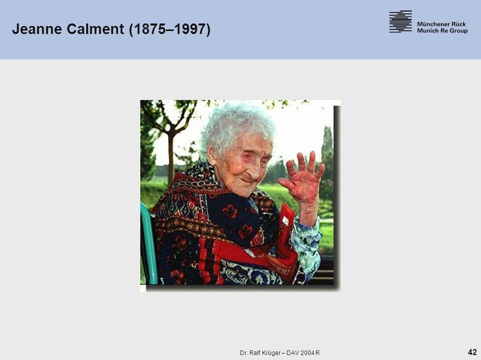 42 Dr. Ralf Krüger – DAV 2004 R Jeanne Calment (1875–1997)