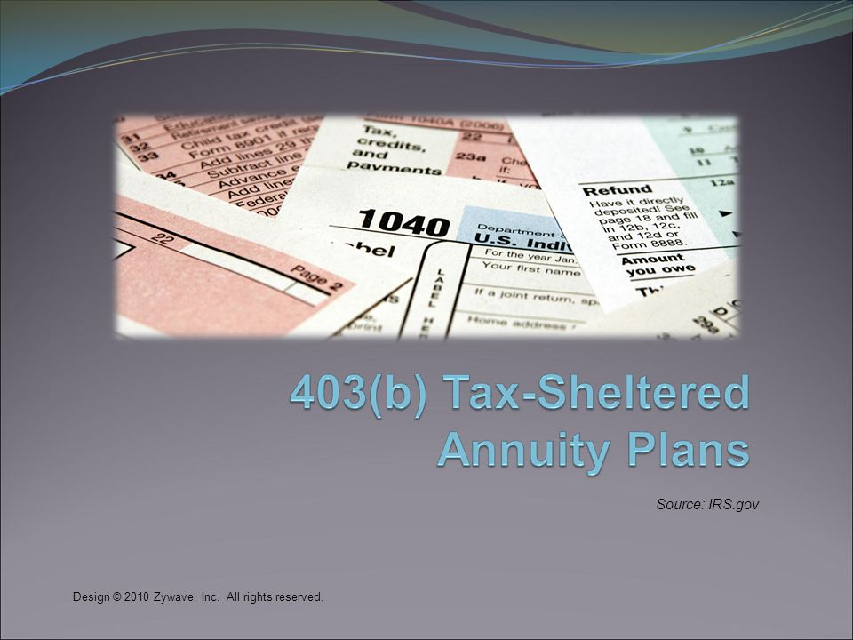 What is a 403(b) Tax-Sheltered Annuity (TSA) plan.