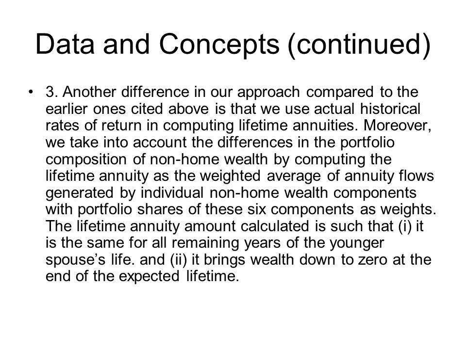 Data and Concepts (continued) 3.