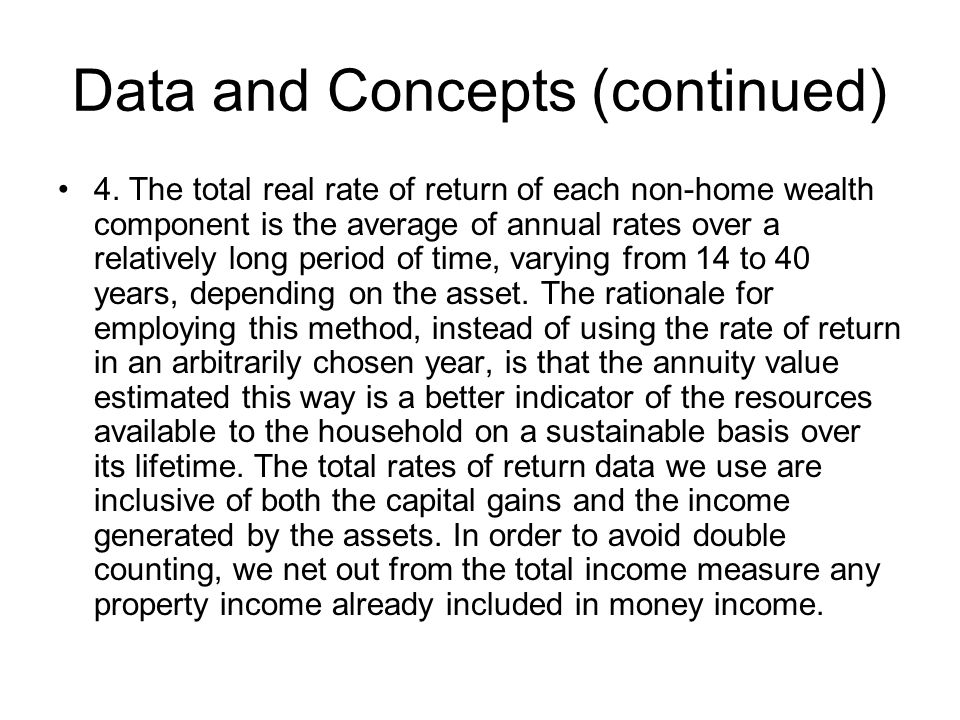 Data and Concepts (continued) 4.