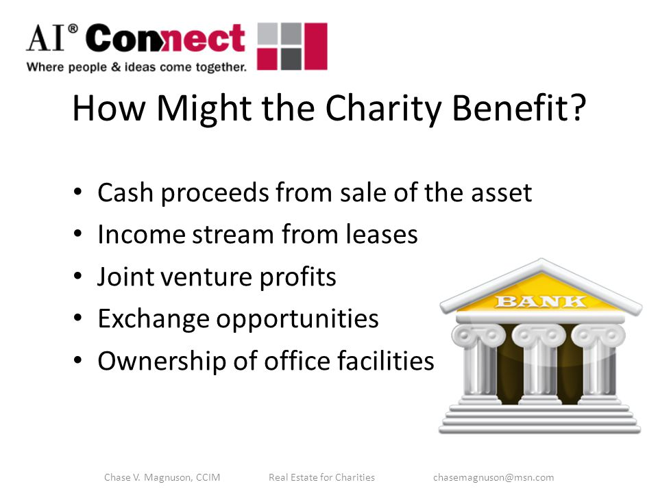 How Might the Charity Benefit.