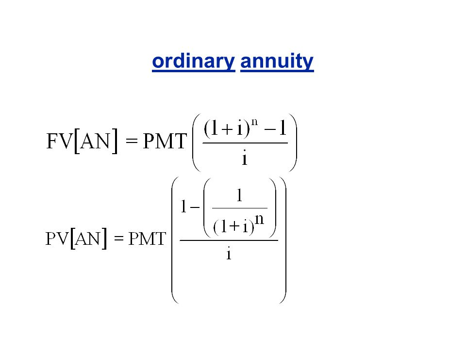 ordinary annuity