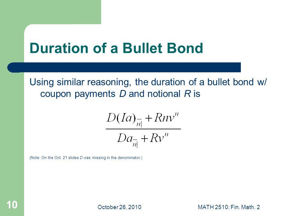 October 26, 2010MATH 2510: Fin. Math.