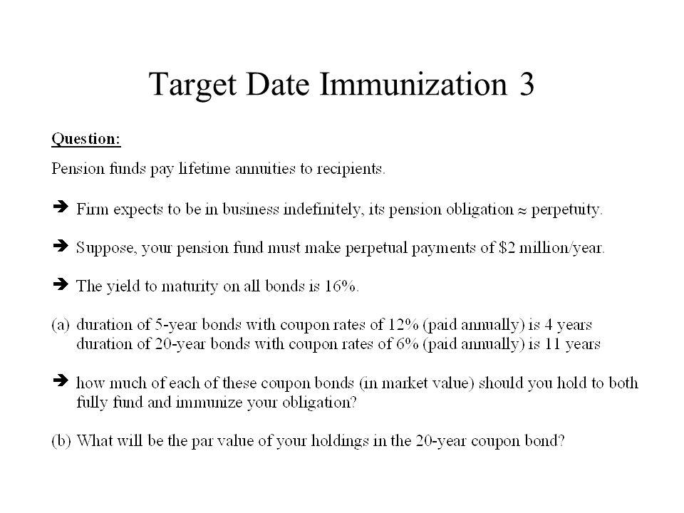 Target Date Immunization 3