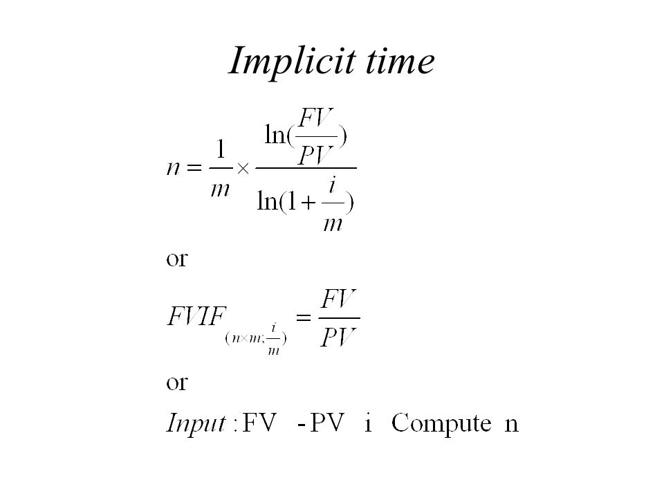 Implicit time