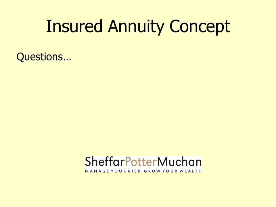Insured Annuity Concept Questions…