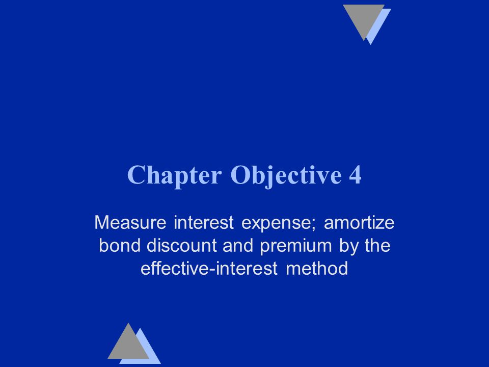 Chapter Objective 4 Measure interest expense; amortize bond discount and premium by the effective-interest method