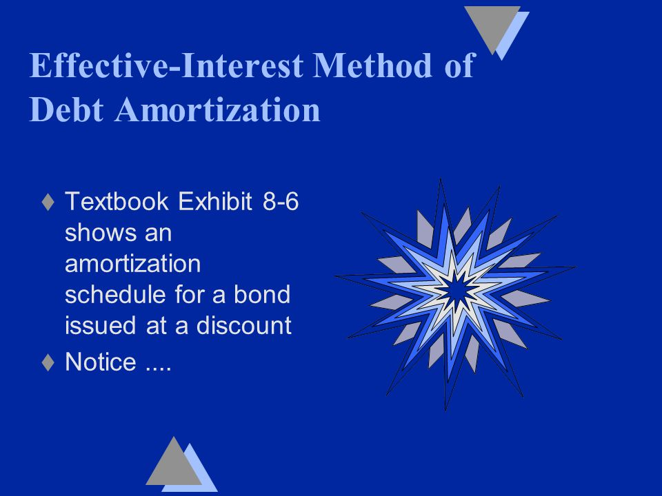 t Textbook Exhibit 8-6 shows an amortization schedule for a bond issued at a discount t Notice....