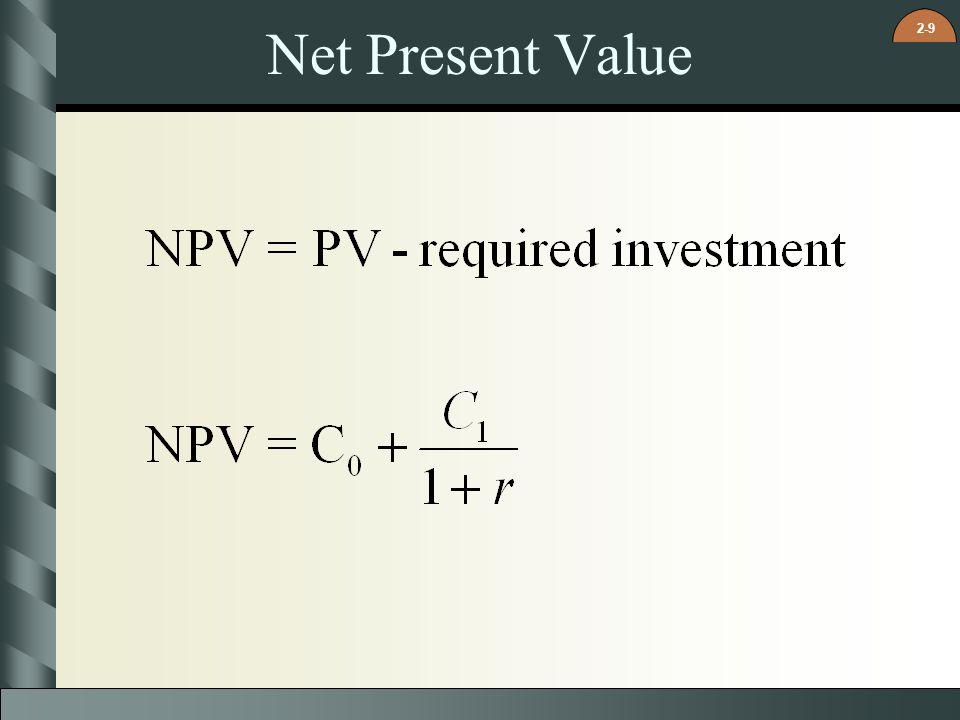 2-9 Net Present Value