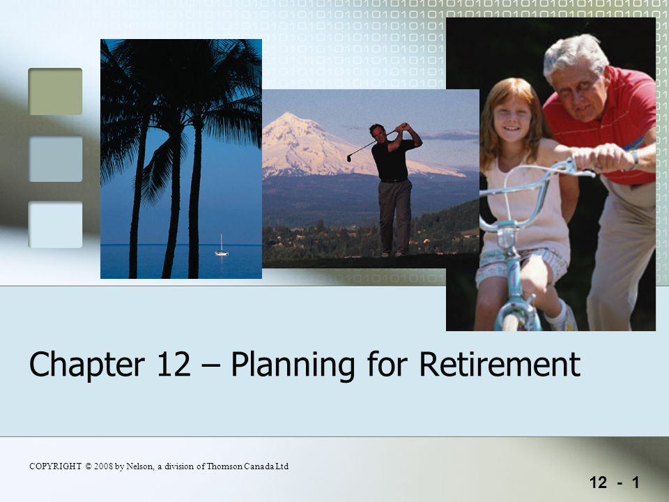 12 - 2 Chapter 12 – Planning for Retirement Chapter 12 - Learning Goals LG 1-Recognize the importance of retirement planning and identify the three biggest pitfalls to good planning.