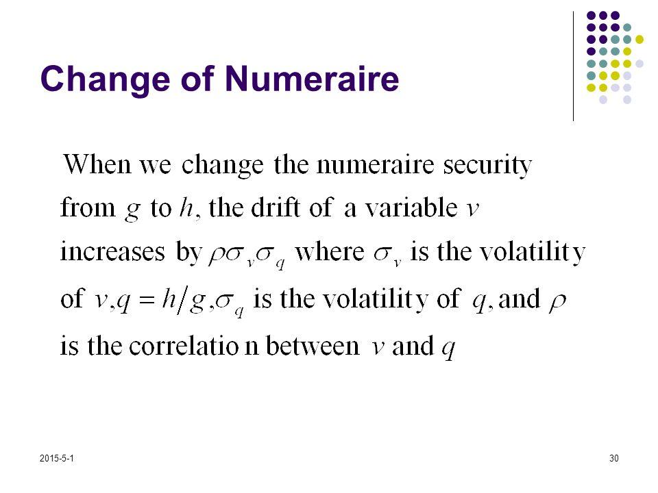 2015-5-130 Change of Numeraire
