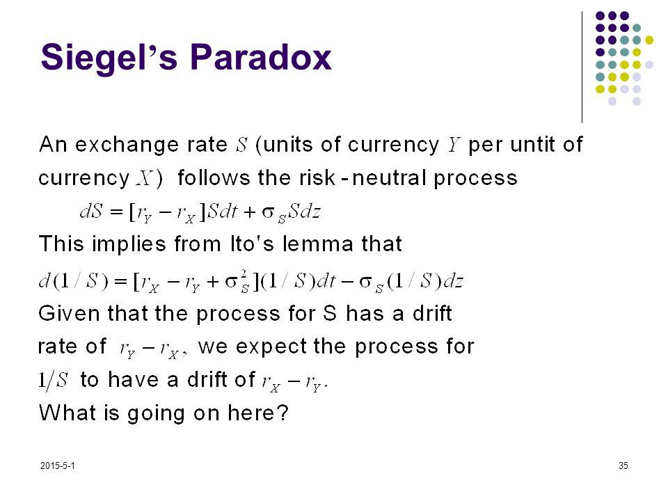 2015-5-135 Siegel ' s Paradox